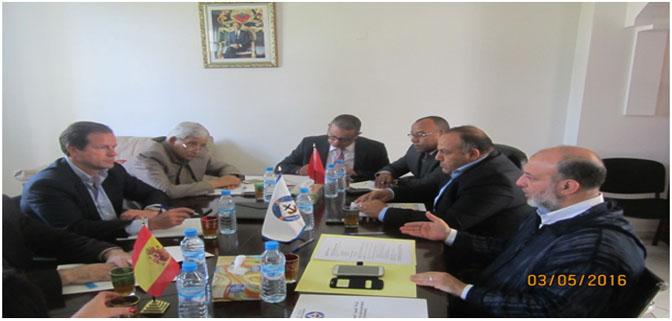 الاجتماع التحضيري لتنظيم اللقاء الدولي المغربي الاسباني المزمع عقده يوم 4 يونيو 2016 بطنجة.