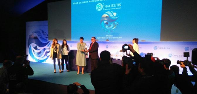 غرفة الصيد البحري المتوسطية تفوز بجائزة أحسن رواق بمشاركتها في معرض أليوتيس بأكادير في دورته الرابعة لسنة 2017.