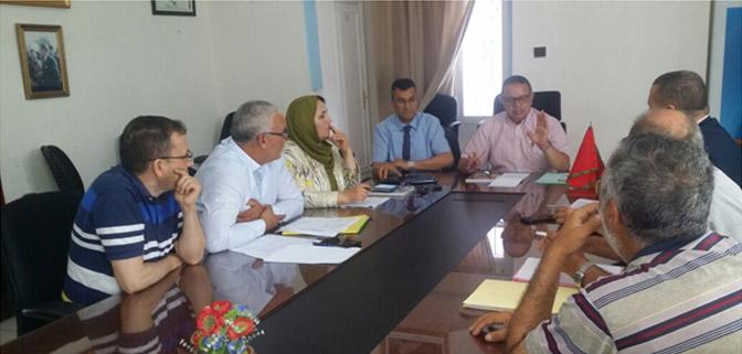 اجتماع بغرفة الصيد البحري المتوسطية حول تدارس الإجراءات لاسترجاع الاقتطاعات الخاصة ب CNSS لمهنيي الصيد التقليدي بميناء طنجة.