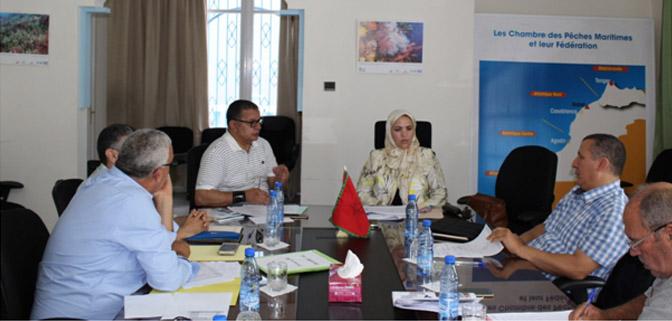 اجتماع بالغرفة حول تشكيل لجنة بخصوص استرجاع الاقتطاعات الخاصة بالصندوق الوطني للضمان الاجتماعي لمهنيي الصيد التقليدي بطنجة.