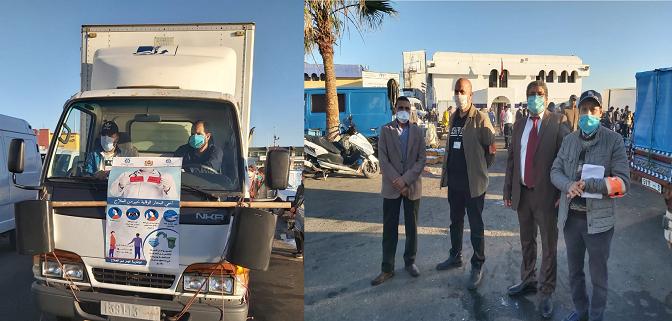 حملة تحسيسية بميناء بني انصار الناظور بمشاركة غرفة الصيد البحري المتوسطية