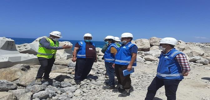 """زيارة ميدانية لنقطة التفريغ ب """"أفري أفناس"""" اقليم الدرويش لممثلي غرفة الصيد البحري المتوسطية بالناظور"""
